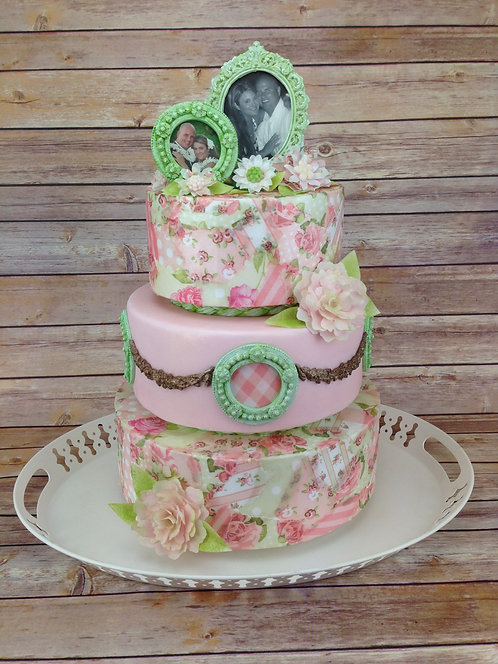 Shabby Chic Cake Edible Designer Collection