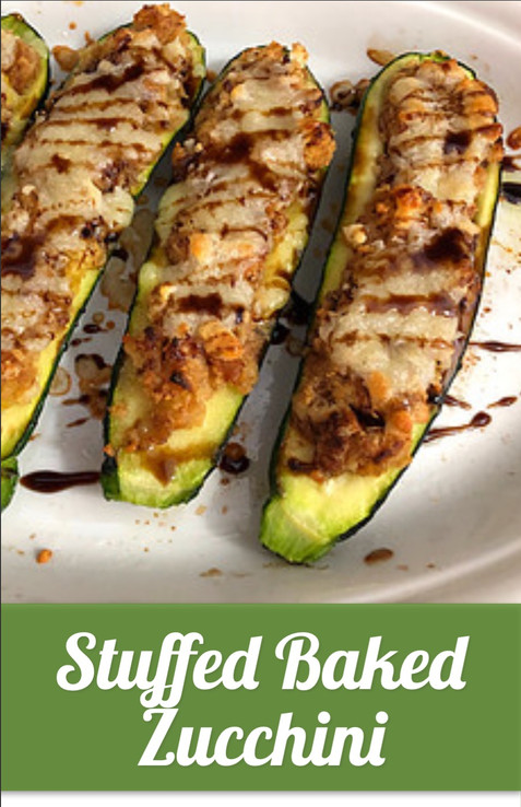 Stuffed Baked Zucchini Recipe