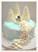 Snowman Wonderland Cake