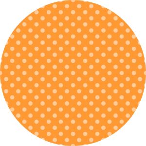 Orange Polka Dot Wafer Paper/Frosting Sheet