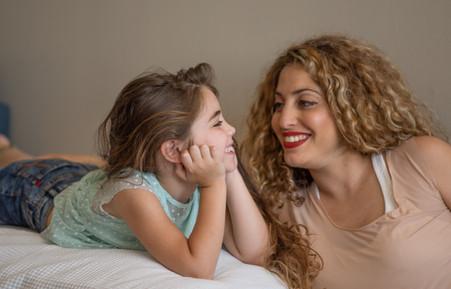 צילומים במסגרת בייתית אמא ובת