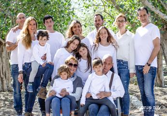 צילומי משפחות בטבע משפחה מורחבת