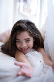 צילומים במסגרת בייתית ילדה