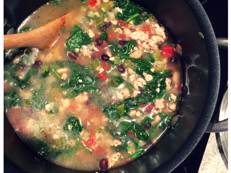 Healthy Spinach, Bean & Turkey Soup