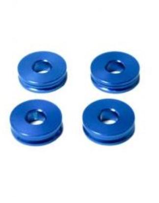 M6 Stand off 5mm 4kpl sininen