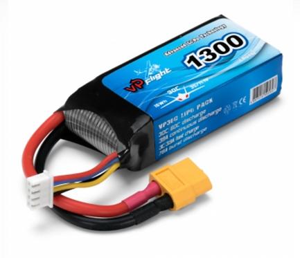 LiPo 3S 11,1V 1300mAh 30C XT60
