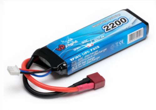 LiPo 2S 7.4V 2200mAh 30C T-Connector