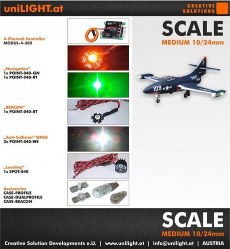 uniLight Scale-set medium 10/24mm with 4ch module V2