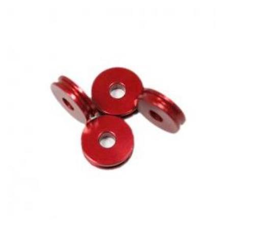 M5 stand off 5mm 4kpl punainen