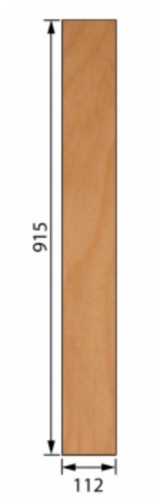 Lentokone vaneri 5.0 x 112 x 915mm