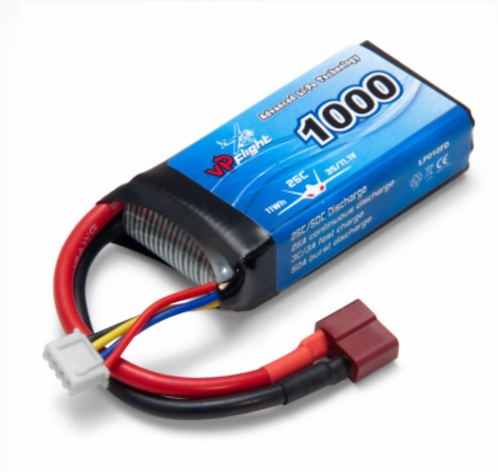 LiPo 3S 11,1V 1000mAh 25C T-Connector