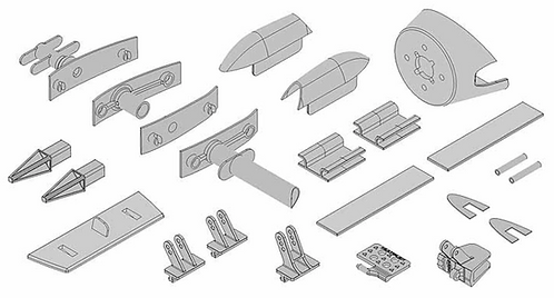 Plastic parts set EasyGlider 4