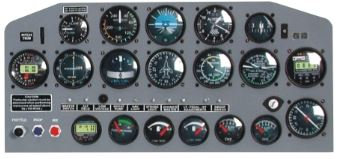 Extra EA-300 1/4 instrument panel kit
