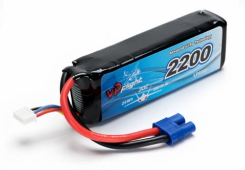 LiPo 3S 11,1V 2200mAh 30C EC3
