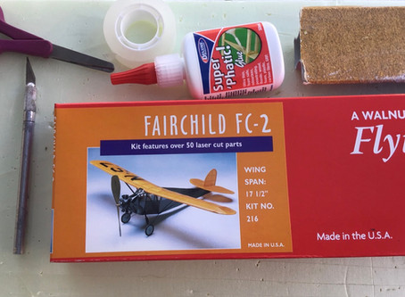 Fairchild FC-2 kumimoottori lennokki