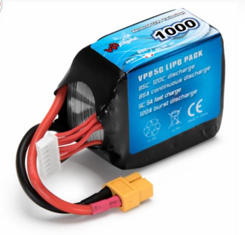 LiPo 6S 22,2V 1000mAh 85C XT60