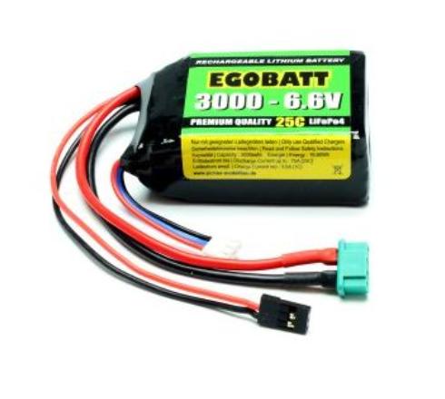 LiFe Egobatt 6.6V 3000mAh 25C
