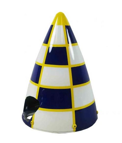 "3"" Carbon Spinner Dark blue/White/Yellow"