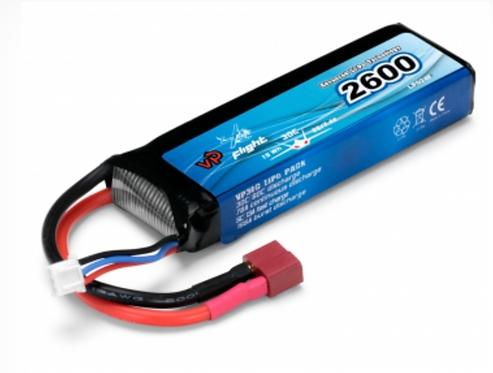 LiPo 2S 7.4V 2600mAh 30C T-Connector