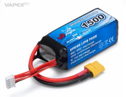 LiPo 4S 14,8V1500mAh 80C XT60