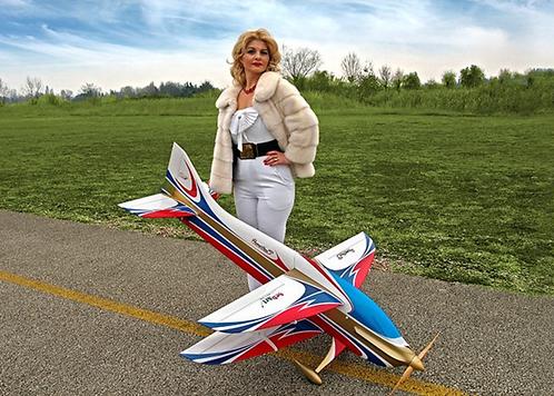 Sebart Prometheus 50E Biplane ARF White/Blue