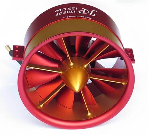 JP EDF 120mm puhallin ja 12S 760Kv moottori
