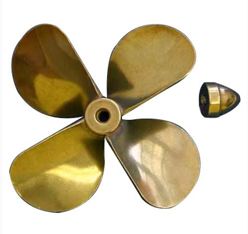"Brass Prop 4-Blade Right 2.5"""