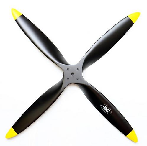 19x12 4-lapa puupotkuri musta/keltainen bensa