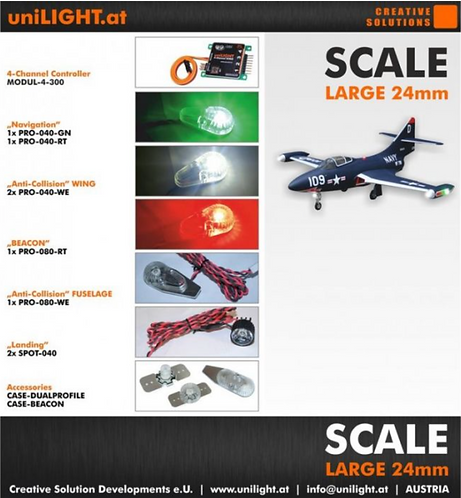 Scale-set large 24mm with 4ch module