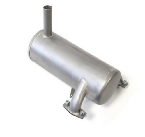 Stainless steel silencer for ZG74 and ZG80, long version, with 20mm exhaust tube