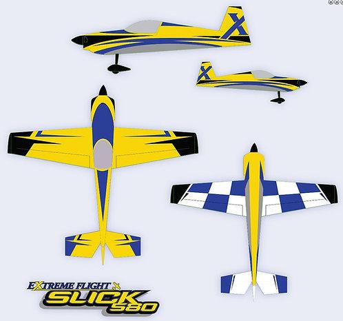 "SLICK 580 EXP Yellow/Blue 105.5"""
