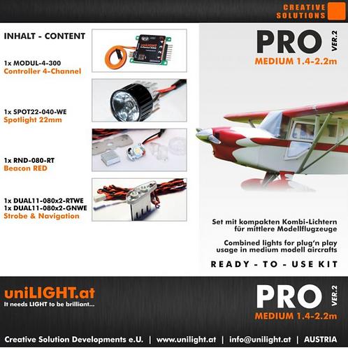 Pro-medium lighting set