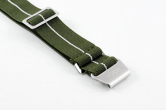 Premium Elastic - Green & White