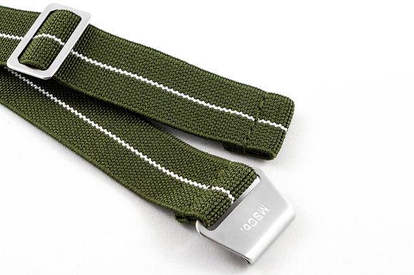 Premium Elastic - Green & White V2
