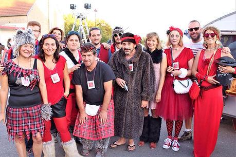 l'équipe d'organisateurs du festival perché sur la colline