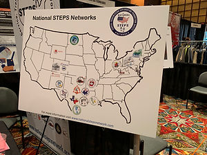 The National STEPS Network map at the OSHA Oil& Gas Expo.