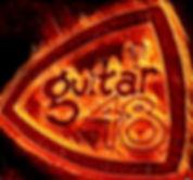 Guitar 48 LOGO on fire