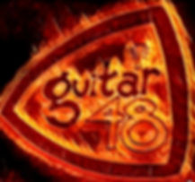Guitar 48 LOGO on fire