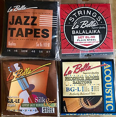 La Bella Guitar Strings. Balalaika Gypsy Jazz Phosphor Bronze Jazz Tapes