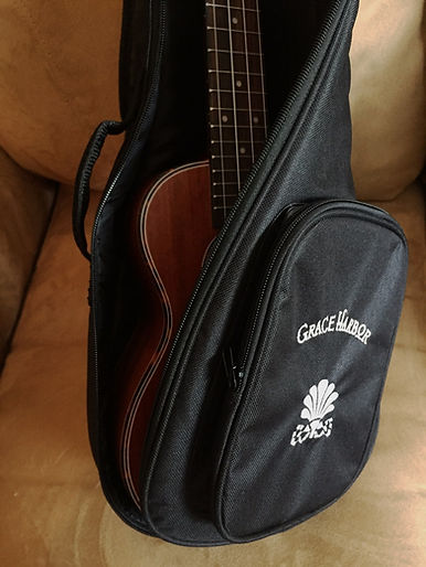 Grace Harbor Ukulele in bag