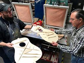 GUILD TOUR - inspecting a guitar top