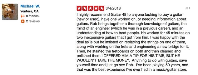 Guitar48 customer review