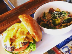 Bacon Cheddar Burger w/ Brussell Sprouts