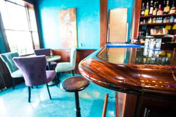 Custom Mahogany Bar Interior