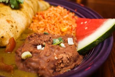 Burrito with Green Chile