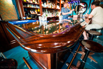 Custom Mahogany Bar Interior