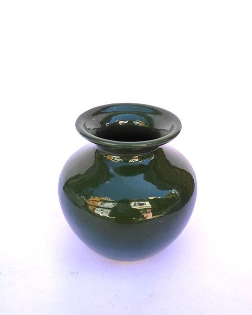 Vaso bolinha verde musgo - P