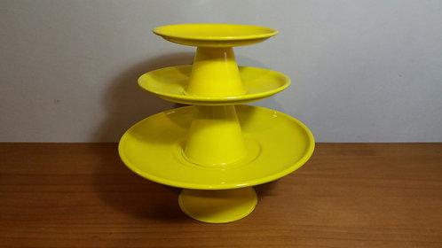 Kit pratos suspensos amarelos