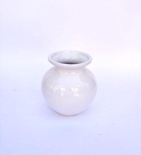 Vaso bolinha branco - PP