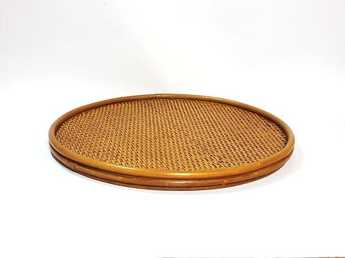 Bandeja madeira com bambu